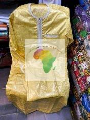Bazin Riche 100% pure coton Golden XXL Premium Complet Tout Fini sur Commande de 2 Jours