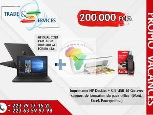 HP Dual Core + Imprimante + Clé USB
