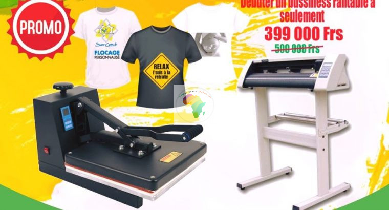 Machine presse t shirt 38*38+machine plotter Jk 72