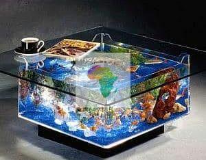 Du mobilier d'aquarium