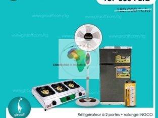 Réfrigérateur à 2 portes+rallonge INGCO